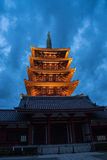 The Asakusa temple in Tokyo, Japan. View of the Asakusa temple in Tokyo, Japan Royalty Free Stock Photography