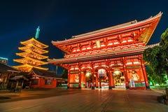 Asakusa, templo de Sensoji fotografia de stock