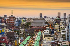 Asakusa Tokyo, Japan Royaltyfria Foton