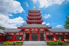 Asakusa, Tokyo, Japan - Juni 19, 2018 - Sensoji is oude Bu Royalty-vrije Stock Foto's