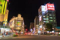 Asakusa Tokyo på natten Arkivfoto
