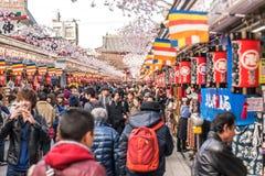 Asakusa Touristic street Royalty Free Stock Photos