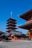 asakusajapan tempel tokyo Royaltyfri Fotografi
