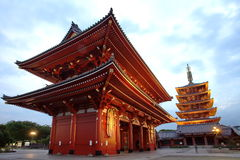 Asakusatempel in Tokyo Japan Royalty-vrije Stock Afbeeldingen