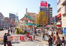 ASAKUZA-OMRÅDE I TOKYO, JAPAN Royaltyfri Foto