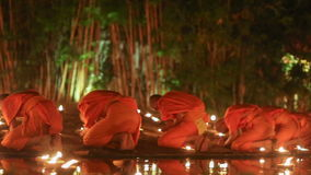 Asalha Puja Day, Chiang Mai, Thailand stock video