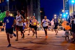 Asalte la raza del Bastille 5K Foto de archivo libre de regalías