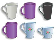 Asalte la taza para la cocina del servicio del té y de café Fotos de archivo libres de regalías