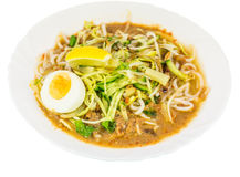 Asam Laksa Rice Noodles IV Stock Images