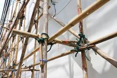 Asamblea de bambú del andamio Fotografía de archivo