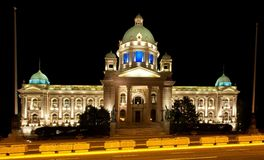 Asamblea nacional de Serbia Imágenes de archivo libres de regalías