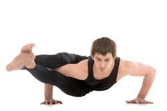 Asana Astavakrasana, Eight-Angle Pose Royalty Free Stock Photo