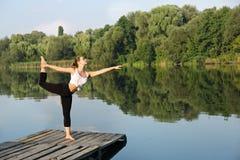 Asana on balance Nataraja asana Stock Photography
