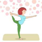Asana de yoga de Natarajasana Photographie stock
