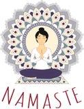 Asana di yoga - Lotus Pose illustrazione di stock