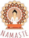 Asana di yoga - Lotus Pose royalty illustrazione gratis