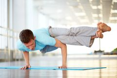 Asana on hands Stock Photography