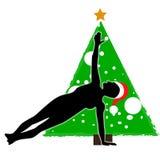 Asana Yoga des Weihnachtsneuen Jahres lizenzfreie abbildung