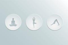 asanas da ioga dos ícones Imagens de Stock