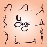 Asanas de la yoga simples Fotos de archivo