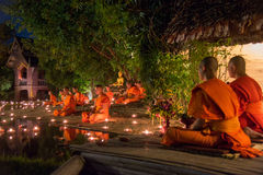 Asanha Puja Day Royaltyfria Foton