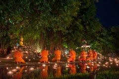 Asanha Puja Day Arkivfoton