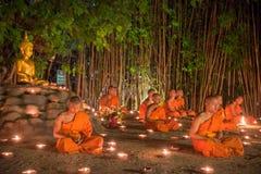 Asanha Puja Day Fotografering för Bildbyråer