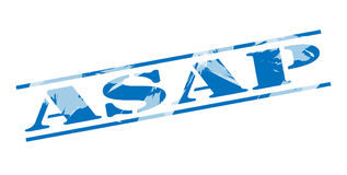 Asap blue stamp. Isolated on white background Royalty Free Stock Photo