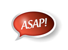 Asap message bubble illustration Stock Image