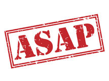 Asap red stamp. On white background Stock Photos