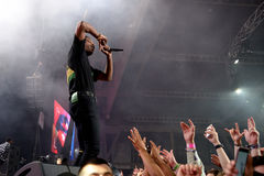 ASAP Rocky (rapper from Harlem and member of the hip hop collective ASAP Mob) in concert at Sonar Festival Stock Image