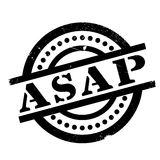 Asap rubber stamp. Grunge design with dust scratches. Effects can be easily removed for a clean, crisp look. Color is easily changed Royalty Free Stock Image