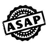 Asap rubber stamp. Grunge design with dust scratches. Effects can be easily removed for a clean, crisp look. Color is easily changed Stock Photography