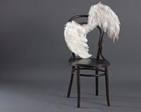 Asas brancas do anjo Imagens de Stock