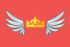 Asas com coroas Vetor do logotipo do clube do Vip Ilustração do vetor Imagem de Stock Royalty Free