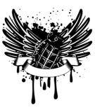 Asas com granada Imagem de Stock Royalty Free