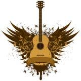 Asas da guitarra acústica Fotografia de Stock Royalty Free