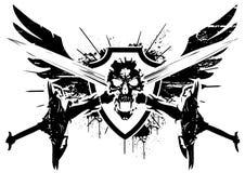 Asas da morte ilustração do vetor