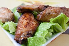 Asas de galinha imagens de stock royalty free