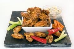 Asas de galinha com condimentos Imagem de Stock Royalty Free