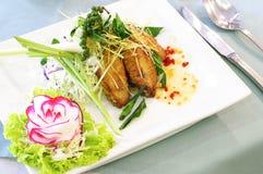 Asas de galinha com molho Imagem de Stock Royalty Free