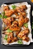 Asas de galinha cozidas Imagem de Stock