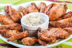 Asas de galinha cozidas Imagens de Stock