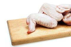 Asas de galinha cruas Imagens de Stock
