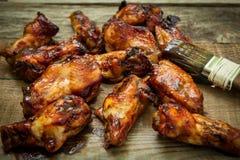 Asas de galinha do BBQ Imagens de Stock Royalty Free