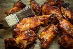 Asas de galinha do BBQ Fotos de Stock