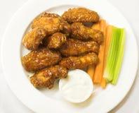 Asas de galinha do BBQ Imagem de Stock