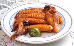 Asas de galinha do BBQ Fotos de Stock Royalty Free