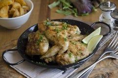 asas de galinha do Peri-peri Foto de Stock Royalty Free