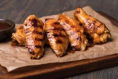 Asas de galinha fritada imagem de stock royalty free